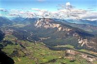 Bild Blick auf Dobratsch-Massiv und Schütt