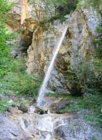 Bild Naturdenkmal Mühlschuss-Wasserfall, St. Lorenzen im Gitschtal