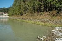 Bild Verbesserungsmaßnahmen am Drauufer unterhalb des Kraftwerks Schwabeck (vor und nach den Arbeiten)
