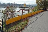 Bild Absicherung am Rand einer Gemeindestraße im Monitoringgebiet beim Bootshafen Völkermarkt